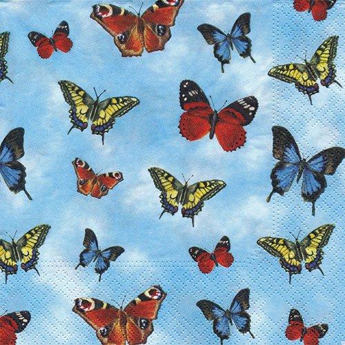 ペーパーナプキン(33)NOUVEAU:(5枚)Butterflies-NO88