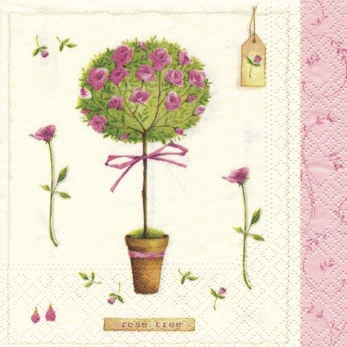 ペーパーナプキン(25)NOUVEAU:(5枚)Rose Tree-NO5(25)