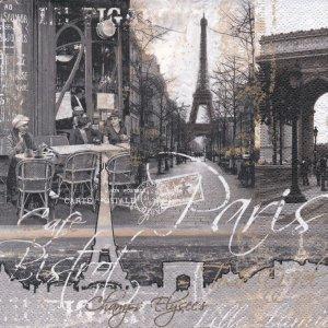 ペーパーナプキン(33)Nuova:(5枚)PARIS(モノトーン)-NU67