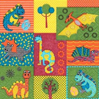 ペーパーナプキン(25)paper:(5枚)Dino world-PA10(25)