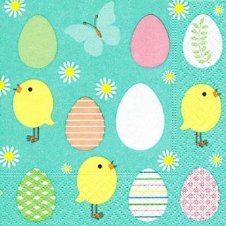 ペーパーナプキン(25)paper:(5枚)Easter allover-PA11(25)