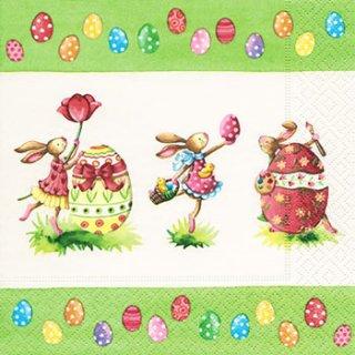 ペーパーナプキン(25)paper:(5枚)Easter round dance-PA15(25)