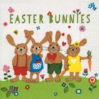 ペーパーナプキン(25)paper:(5枚)Easter bunnies-PA16(25)