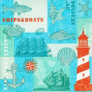 ペーパーナプキン(25)paper:(5枚)Nautical feeling-PA17(25)