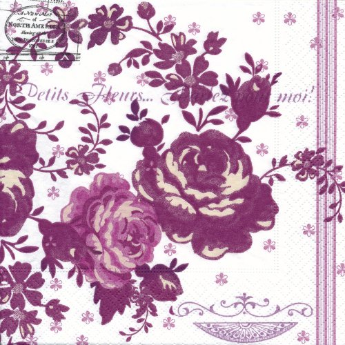 ペーパーナプキン(33)paper:(5枚)Accent of roses-PA29