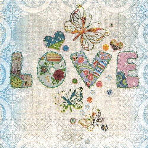 ペーパーナプキン(33)paper:(5枚)Love me too-PA30