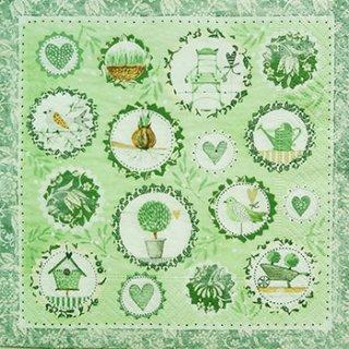 ペーパーナプキン(33)paper:(5枚)Gardening season-PA61