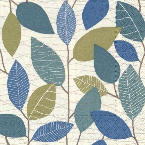 ペーパーナプキン(33)paper:(5枚)Retro leaves-PA104