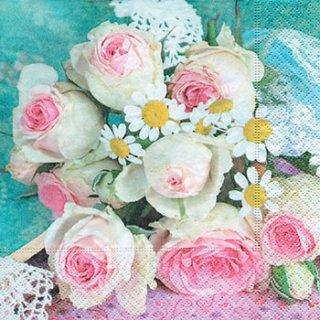 ペーパーナプキン(33)paper:(5枚)Bridal bouquet-PA179