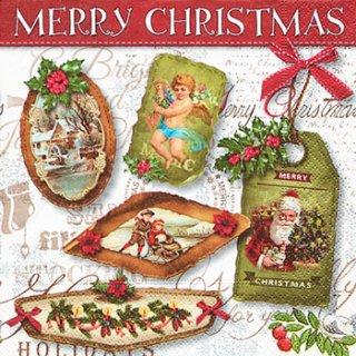 ペーパーナプキン(33)paper:(5枚)Christmas labels-PA211