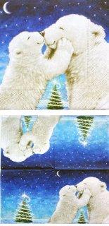 ペーパーナプキン(33)paper:(5枚)Polar bear kiss-PA216