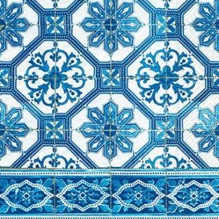 ペーパーナプキン(33)paper:(5枚)Blue tiles-PA239