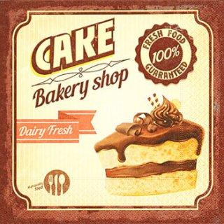 ペーパーナプキン(33)paper:(5枚)Chocolate cake-PA247