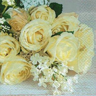 ペーパーナプキン(33)paper:(5枚)Wedding roses-PA251
