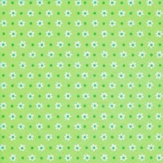 ペーパーナプキン(33)paper:(5枚)Small flowers green-PA255