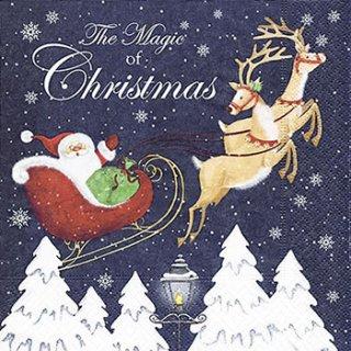 ペーパーナプキン(33)paper:(5枚)Magic of Christmas-PA268