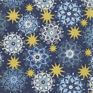 ペーパーナプキン(33)paper:(5枚)Filigree stars-PA269
