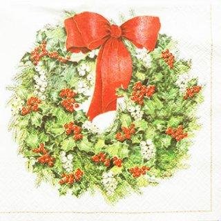 ペーパーナプキン(33)paw:(5枚)Nostalgic Wreath-PW87