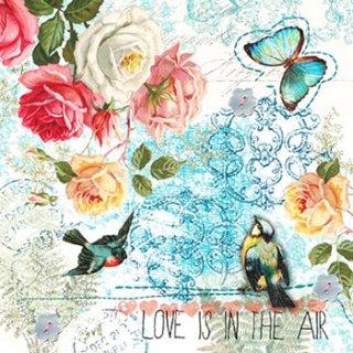 ペーパーナプキン(33)paw:(5枚)Love is in the Air-PW97