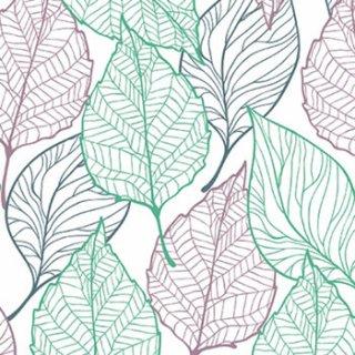 ペーパーナプキン(33)paw:(5枚)Spring Leaves-PW118