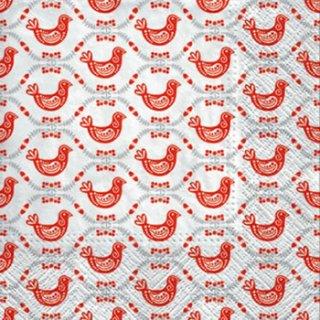 ペーパーナプキン(33)paw:(5枚)Geometric Hens-PW130