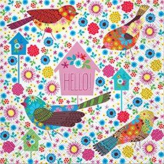 ペーパーナプキン(33)paw:(5枚)Pastel Birds-PW145