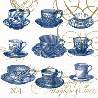 ペーパーナプキン(25)ppd:(5枚)Teacups Monacp-PP7(25)