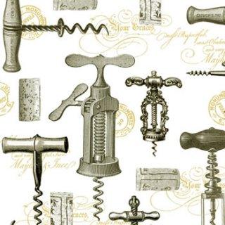 ペーパーナプキン(25)ppd:(5枚)Corkscrews-PP8(25)