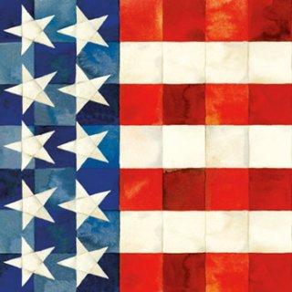 ペーパーナプキン(25)ppd:(5枚)Quiiled Flag-PP9(25)