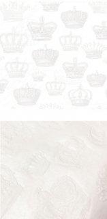 ペーパーナプキン(33)ppd:(5枚)王冠エンボス(ホワイト)-PP03W