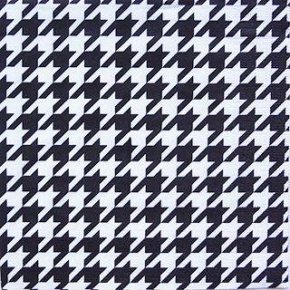 ペーパーナプキン(33)ppd:(5枚)千鳥格子(ブラック/ホワイト)-PP4