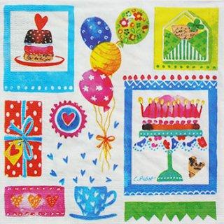 ペーパーナプキン(33)ppd:(5枚)Birthday 5688-PP15