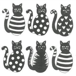 ペーパーナプキン(33)ppd:(5枚)Six cats-PP26