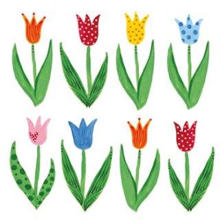 ペーパーナプキン(33)ppd:(5枚)Anne's Tulips-PP28