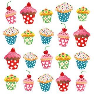 ペーパーナプキン(33)ppd:(5枚)Sweet Cupcakes-PP59