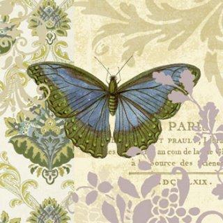 ペーパーナプキン(33)ppd:(5枚)Vintage Papillon-PP61