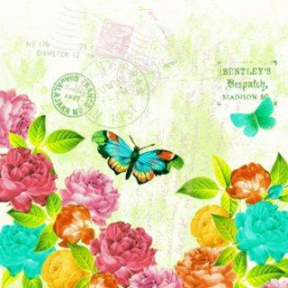 ペーパーナプキン(33)ppd:(5枚)Spring Letter-PP74