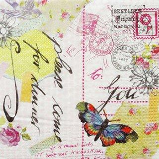 ペーパーナプキン(33)ppd:(5枚)Love Letter-PP76