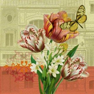 ペーパーナプキン(33)ppd:(5枚)Tulip Landscape-PP79