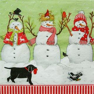 ペーパーナプキン(33)ppd:(5枚)Three Snowmen-PP90