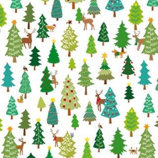 ペーパーナプキン(33)ppd:(5枚)Winter Forest-PP110