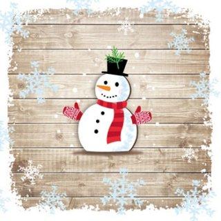ペーパーナプキン(33)ppd:(5枚)Snowman with Gloves-PP111