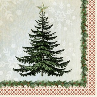 ペーパーナプキン(33)ppd:(5枚)Winter Lodge Tree-PP112