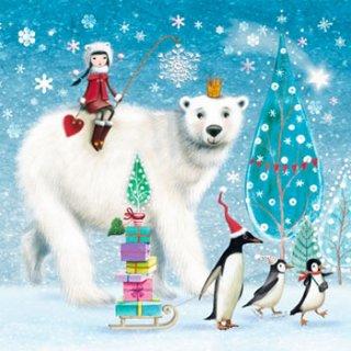 ペーパーナプキン(33)ppd:(5枚)Bear & Penguins-PP114