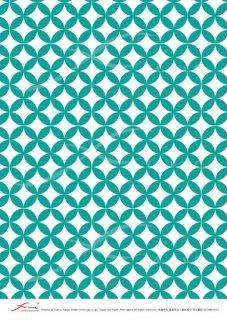 デコパージュ用ライスペーパー「FUNE」RCNM03015 七宝繋ぎ(緑)