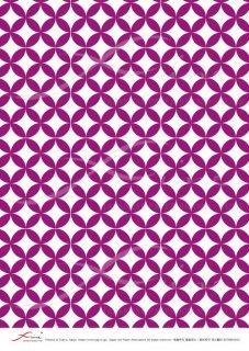 デコパージュ用ライスペーパー「FUNE」RCNM03016 七宝繋ぎ(紫)