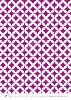 デコパージュ用ライスペーパー「FUNE」RCNM03021 七宝繋ぎ(紫B)
