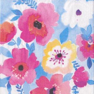 ペーパーナプキン(33)ppd:(5枚)Watercolor Floral-PP306