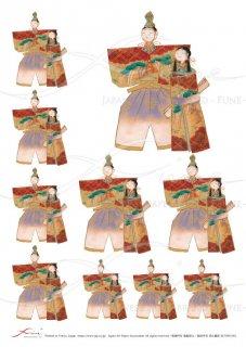 デコパージュ用ライスペーパー「FUNE」RCVP01001 ひな人形