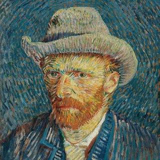 ペーパーナプキン(33)AMB:(5枚)Van Gogh Self-Portrait-AM550